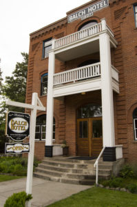 Balch Hotel loan client: exterior of the building