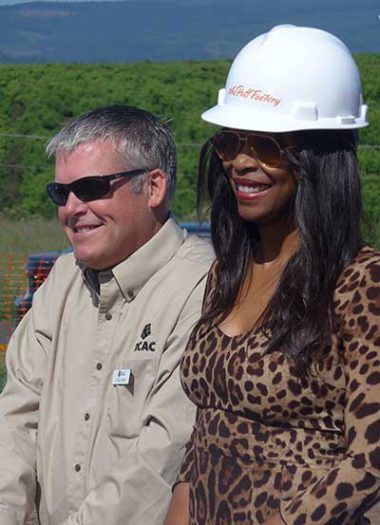 Owner Jacqueline Alexander at the groundbreaking ceremony