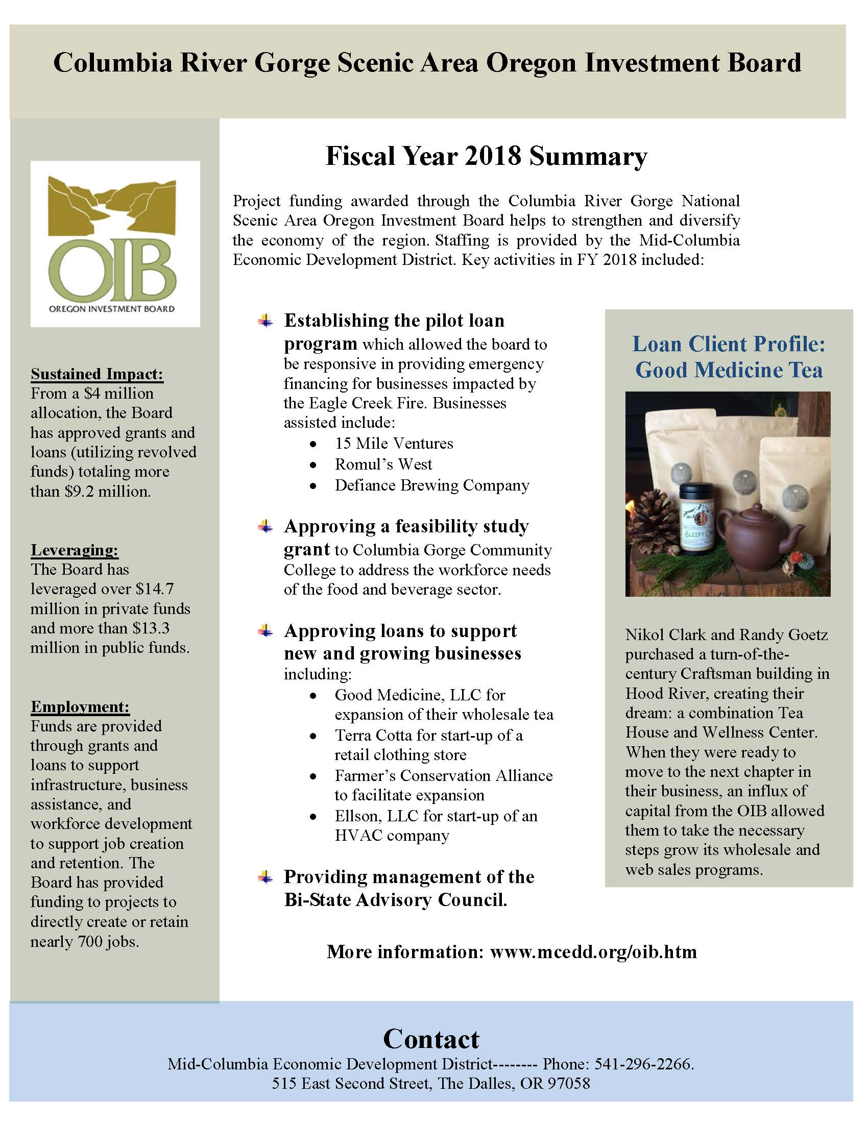 Overview of the annual report for the Oregon Investment Board