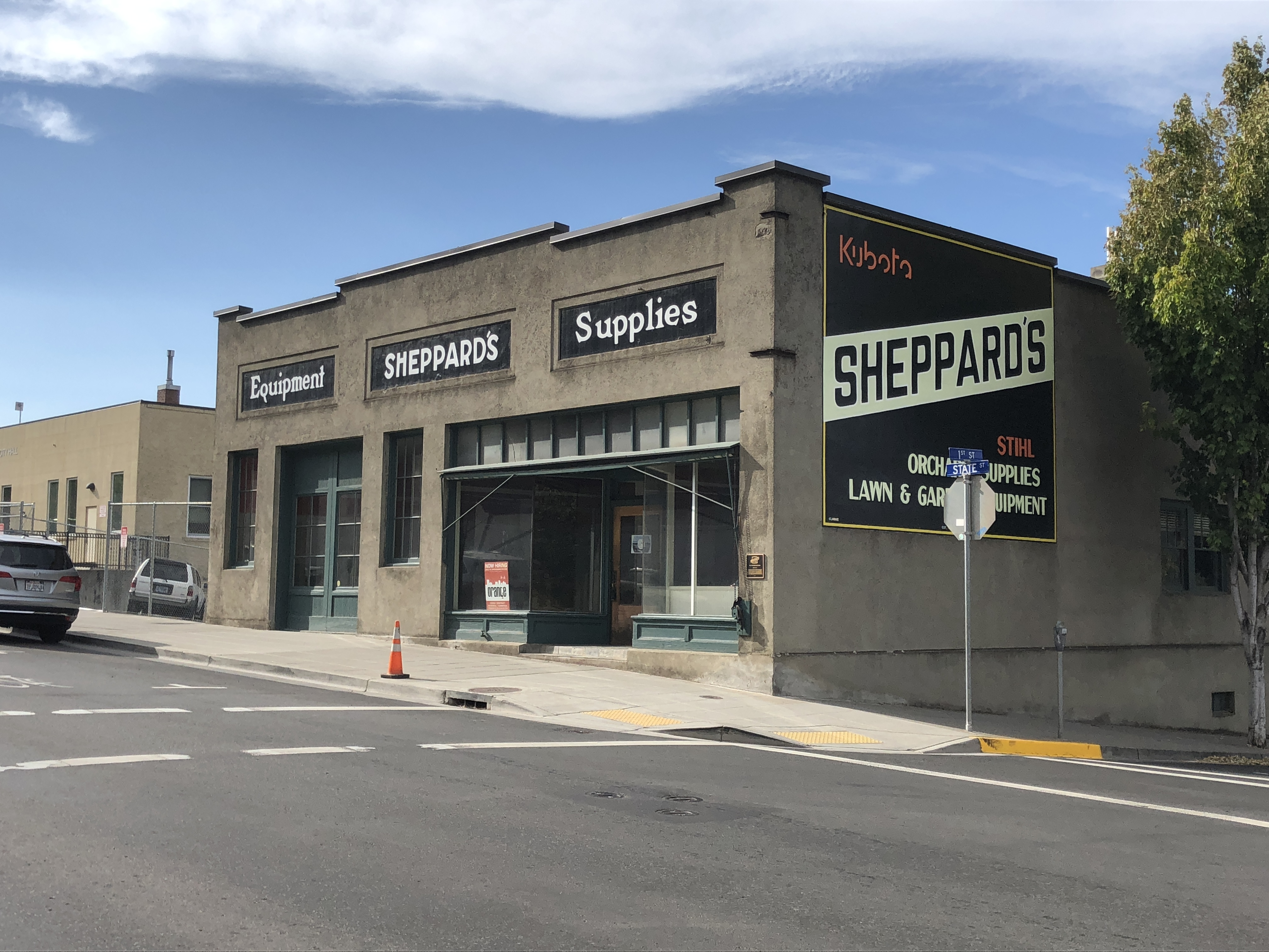 Exterior of Sheppards building in Hood River