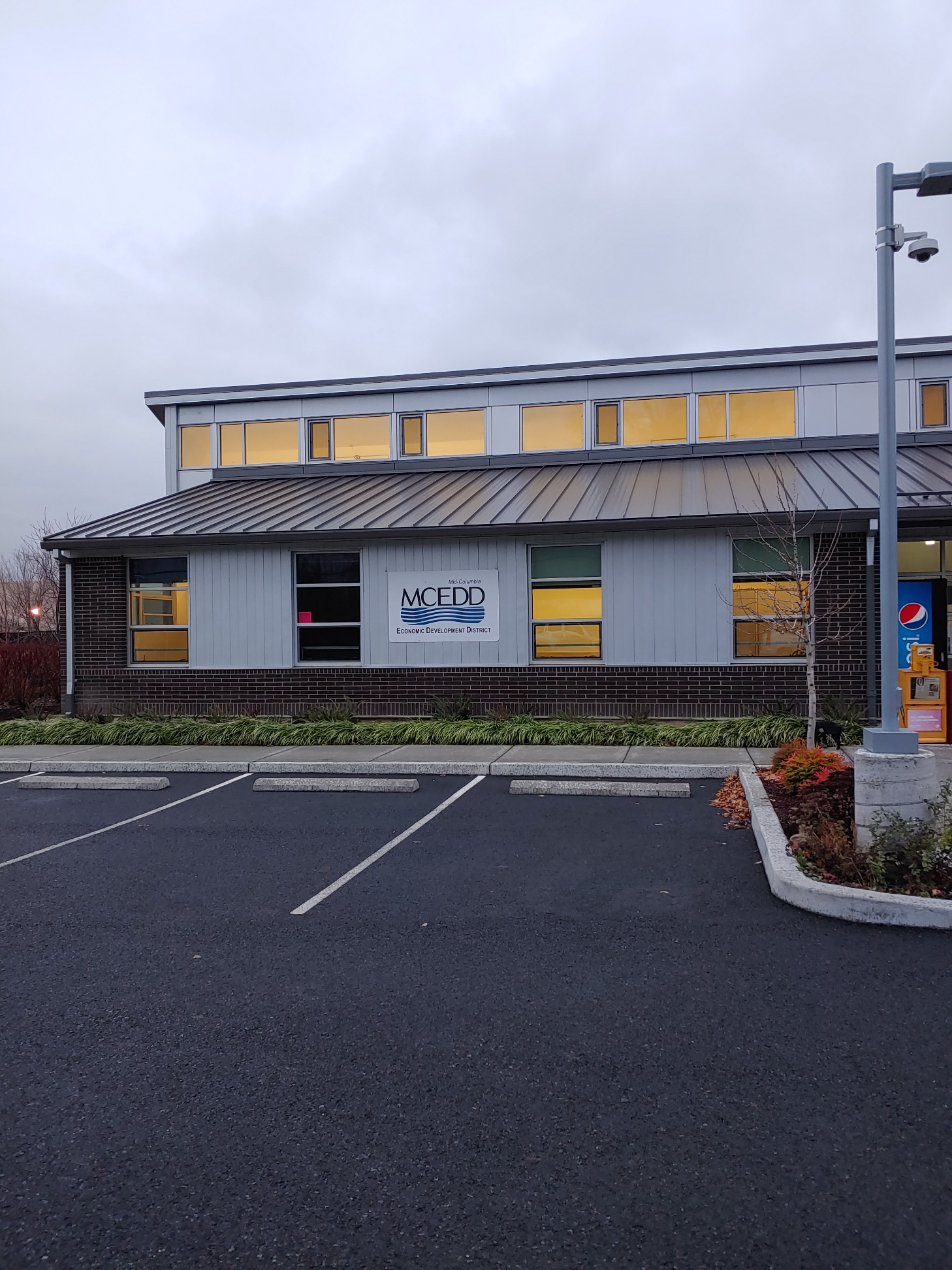 Front view of the MCEDD offices in The Dalles